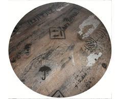 Werzalit Tischplatte HPL Dekor Ex Works 80 cm rund wetterfest Kompakttischplatte Ersatztischplatte Bistrotisch Tisch Gastronomie