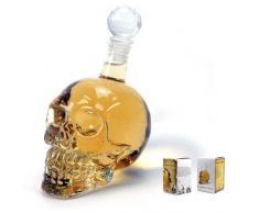 1000 ml Kristallschädel Kopf Wodka Whiskey Erschossen Glasflasche Trinken Hausbar Dekanter