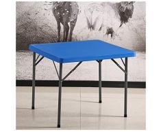 SMC table Klapptisch Einfacher Kunststoff-Klapptisch - Tragbarer quadratischer Tischbar im Freien zum Klappen (Color : Blue)