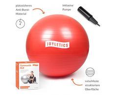 Joyletics® Gymnastikball »L« | Sitzball und Fitnessball für EIN entlastendes Sitzen und vielfältiges Ganzkörpertraining | Gymnastik-Ball Durchmesser 85 cm, rot
