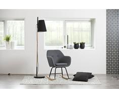 AC Design Furniture Schaukelstuhl Wendy, B: 57 x T:71 x H: 81 cm, Metall, Grau