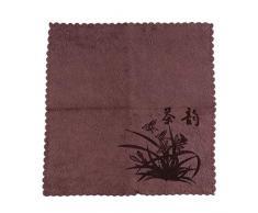 NYAOLE Geschirrtuch Wasseraufnahme Verdickung Baumwolle und Leinen Chinesischen Stil Zen Tee Tuch Retro Japanischen Stil Kung Fu Tee-Set Tee Tisch Lappen Handtücher, Braun