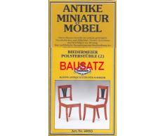 MiniMundus Biedermeier Stühle für das Puppenhaus, Bausatz