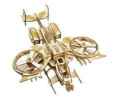 Romanticngt 3D Holz Model Kits intellektuelles Spiel Lernen Bildung Dekomprimierung Boy Toys Laser Schneidetisch Ornaments Model Kits for Erwachsene Kinder