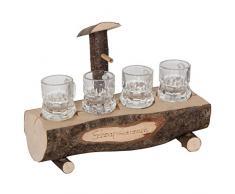 Bartl 107863 Schnapsbrunnen mit 4 Gläsern - originelles Zubehör für die Hausbar