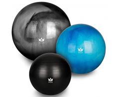 ZenBall Gymnastikball 85 cm inkl. Luftpumpe & Maßband I Premium Sitzball mit Gratis E-Book & Workout-Guide I Balance Ball für Reha, Sport, Büro, Yoga und eine aufrechte Haltung (Midnight Black)