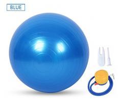 Ruick Gymnastikball, Yoga Ball, Gebären Ball (55–75 cm) mit Quick Pumpe, Anti-Burst & Extra dicke, schwere Pflicht Ball Chair Stabilität Ball unterstützt 1100lbs (Office & Home), blau, 65 cm