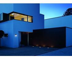 Steinel LED Hausnummern-Leuchte XSolar LH-N edelstahl, Beleuchtete Hausnummer inkl. 1100 mAh Lithium-Ferrum-Akku, Solar Außenwandleuchte mit Dämmerungsschalter und monokristallinem Solar-Panel, 007140 [Energieklasse A+]