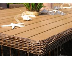 Rattan Tisch Ibiza 150x90cm Polystyrol Massivplatte Polyrattan Gartentisch