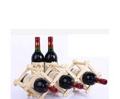 UPKOCH Faltbare Weinregale aus Massivholz Weinständer Weinhalter für Küchenbar Vitrinenregal (5 Flaschen)