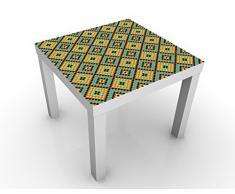 Apalis 51999-302587-855817 Design Tisch Buntes Mosaik Fliesenmuster, 55 x 55 x 45 cm, weiß
