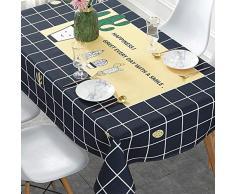 SAsagi Gedruckt Baumwolle Leinen Tischdecke,wasserdicht Eisen-Nachweis Rechteckiger Tisch Decken Esstisch Tee Tisch Lesen Tabelle Picknick Tisch Protector-h 140x220cm(55x87inch)