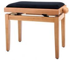 Classic Cantabile Pianobank Kirsche-matt (Höhenverstellbar von 47-56cm, Spindelmechanik, Sitzfläche 55 x 32cm, schwarzer Velourbezug, stabil)