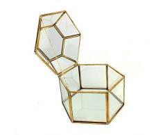 Ringschachtel, Elegante Glas-Tischvitrine Schmuck Verlobung Ehering Box Schmuck Glasbox Für Heimtextilien.
