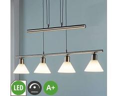 Lampe Wandleuchte 4 flammig, GU10, A+, inkl. Leuchtmittel f/ür Wohnzimmer /& Esszimmer Lampenwelt LED Deckenlampe Munin dimmbar in Wei/ß aus Aluminium u.a Strahler Spot - Deckenleuchte Modern
