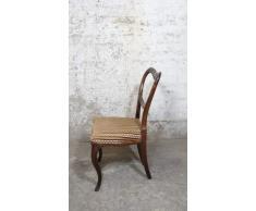 Möbelladen Dahms Antiker Stuhl Biedermeier Louis Philippe Barock Rokoko Stil Ballonstuhl Samt Polster