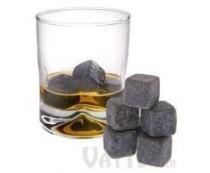 Whiskysteine 9 Stk. Wiederverwendbar - Grau Speckstein 2 x 2 x 2 cm - Kühlsteine für Party Hausbar Reisen - Grinscard