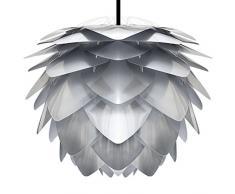 VITA Silvia Steel Hängeleuchte für A++ bis E inkl. Kabel und Fassung steel, Kabel schwarz D 45 cm Lampe