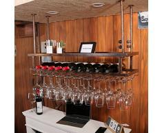 Houyuanshun DSC Regal Weinregal Suspension Weinregal Rotweinregal Auf Den Kopf Hausbar Bar Wein Displayständer Getränkehalter (Farbe : Retro Copper, größe : 50cm*30cm)