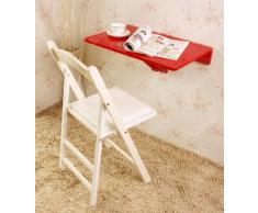 SoBuy® Wandklapptisch, Küchentisch, Kindermöbel, Tisch aus Holz 60x40cm FWT03-R