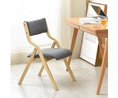 Esszimmerstühle Klappstuhl Holzstuhl mit durchbrochener Rückenlehne und abnehmbarem und waschbarem gepolstertem Kunststoff - für Küche, Wohnzimmer Freizeitstühle Frisierstühle
