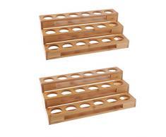 FLAMEER 2X Holz Aufbewahrungsregal Für ätherische Öle Ordentlich Öle Tischvitrine