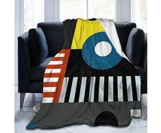 Speech At The Bauhaus Überwurf-Decke, weiche Flanell-Fleece-Decke für Couch, Bett, Sofa, Stuhl, Büro, Camping, dekorative warme Decke, 127 x 152,4 cm