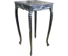 Casa Padrino Barock Bar Tisch Silber Höhe 112 cm, Breite 60 cm - Antik Möbel