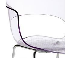 Scab Designer Stuhl Miss B Antishock mit Chrombeinen Kunststoff transparent