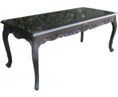 Casa Padrino Barock Esstisch Schwarz 160cm - Esszimmer Tisch - Möbel Antik Stil
