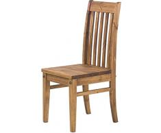 Brasilmöbel Holzstuhl Classico Brasil - Esszimmerstuhl Klassik Pinie Massivholz Echtholz - Variante & Farbe wählbar - Stuhl Holz Wohnzimmerstuhl Lehnenstuhl Lehne Küchenstuhl Landhaus