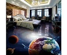 Zhcmy 3D Nach Maß Galaxy Universum Globus Stereo Bad Wohnzimmer Boden Mural Bar Hotel Tapete, 400 * 280 cm