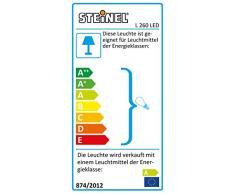 Steinel Sensor Außenleuchte L 260 LED, 8.6 W LED Lampe, 240° Bewegungsmelder, 12 m Reichweite, 700 lm, Edelstahl
