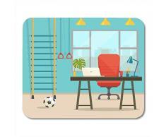 Deglogse Gaming-Mauspad-Matte, Desk Window Table and Chair Ball Sports Equipment Flat Mouse Pad, Desktop Computers mats