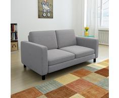 vidaXL 2er Stoffsofa 2-Sitzer Polstersofa Loungesofa Couch Zweisitzer Sitzmöbel