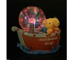MYY Plasma Kugel Licht Zauber Beleuchtung Kristall Urlaub Lampe Globus Statisch Ball Stimmung Lampe Party Bär Dekoration Beleuchtung Weihnachten Geschenk 7.09X3.94X7.09In