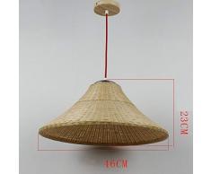 mjk Vintage Lichter Weihnachtslichter Deckenleuchte Lampe Licht, Deckenleuchten, Kronleuchter, Lampe Kronleuchter in Rattan, Tischbar Restaurant Engineering Glühbirne der abgehängten Decke am Draht d