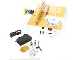 LWQ Mini Tischkreissäge, Handgemachte Schleifen/Polieren/Schneidetisch-Säge DIY Modell Crafts Schneidewerkzeug mit Sägeblatt