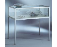 INSIDE Tischvitrine - 5-seitig verglast, Sichthöhe 250 mm - HxBxT 900 x 1000 x 600 mm - Glasvitrine Präsentationsregal Präsentationsregale Sortimentskasten Vitrine Vitrinenschrank Vitrinenschränke