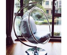 SMGPYHWYP Transparenter Bubble Chair (Glaswiege) Hängender Korb (Stuhl) Innenbalkon Startseite Hemisphere Chair Space Chair Swing Chair