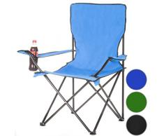 Angelstuhl Campingstuhl Klappstuhl Camping Faltstuhl Campinghocker - blau
