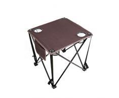 HHGO Praktische Klapptisch, Multifunktionale Leinwand Freizeit Tisch, Kunststoff Indoor-Outdoor-Picknick Partytisch Campingtisch