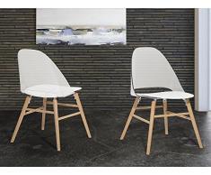 Stuhl transparent weiss - Esszimmerstuhl - Schalenstuhl - Essstuhl - MILFORD
