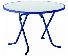 Best 26521020 Scherenklapptisch Primo rund, Durchmesser 100 cm, blau