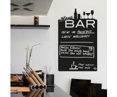 Wandkings Wandtattoo Hausbar Tafel aus Tafelfolie 43 x 70 cm, schwarz, selbstklebend