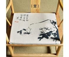 QTQHOME Chinesische Stuhlkissen, Stoff, Esszimmerstuhl-Kissen, Esstisch-Stuhl, Antik-Stuhl-Kissen, modernes Teehaus