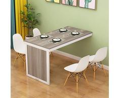 Wand-Klapptisch,Wand-Blatt-Klapptisch,Wandklapptisch aus massivem Holz mit ökologischem Brett, kleine teleskopierbare Wohnwand-100 * 60 * 75