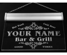 u22951-r KELLER Family Name Bar & Grill Home Beer Food Neon Sign Barlicht Neonlicht Lichtwerbung