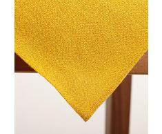 Tischdecke, 90x90 cm, Gelb, Polyester, pflegeleicht, bügelfrei, wetterfest, Tischwäsche, Outdoor, Terrasse, Restaurant, Gastronomie, Mitteldecke, Tisch