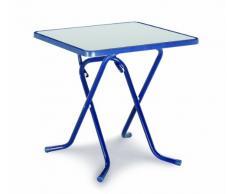 BEST 26527020 Scherenklapptisch Primo quadratisch 67 x 67 cm, blau